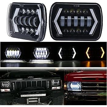 Amazon Com Movotor 7x6 Led Headlights 5x7 Jeep Cherokee