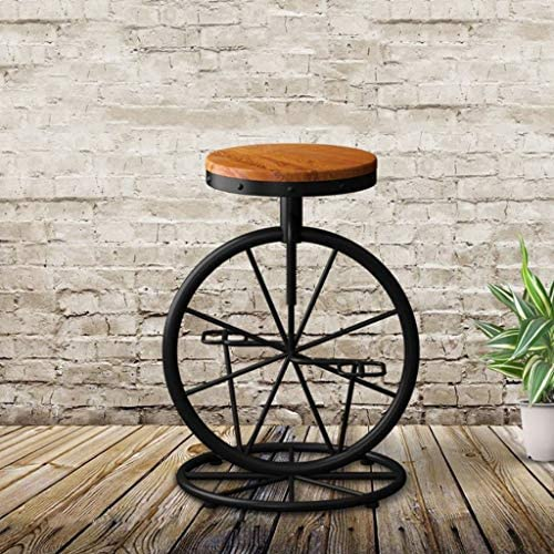 CML Home Facile à Utiliser Tabouret de Bar Forme de vélos en Fer forgé Chaise Tabouret Chaise Retro Wind Lift Tabouret en Bois Massif Loisirs Bar Chaise Conception Portable