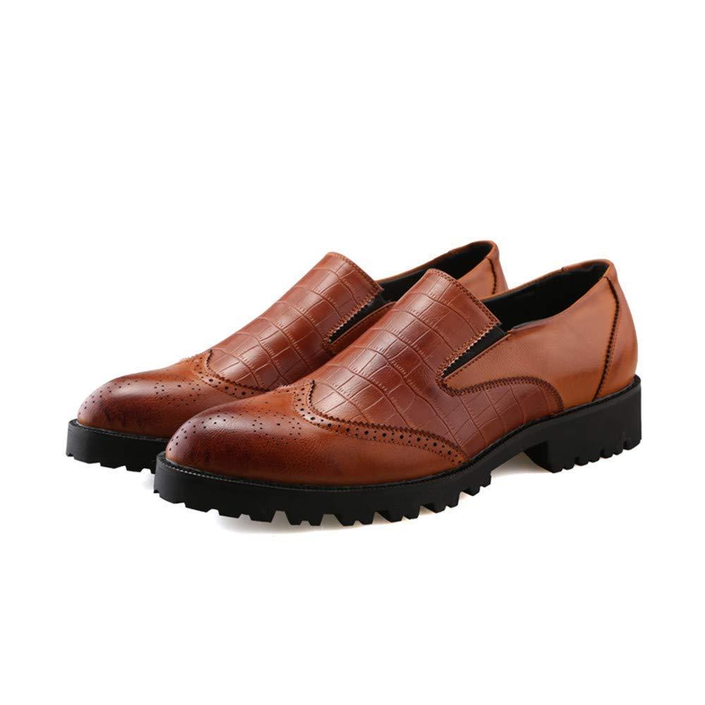 2018 Herren Oxford Casual Business British Spitze Rutschfeste Dicke Basis Basis Basis Volltonfarbe Brogue Schuhe (Farbe   Braun, Größe   41 EU) (Farbe   Braun, Größe   41 EU) d86a51