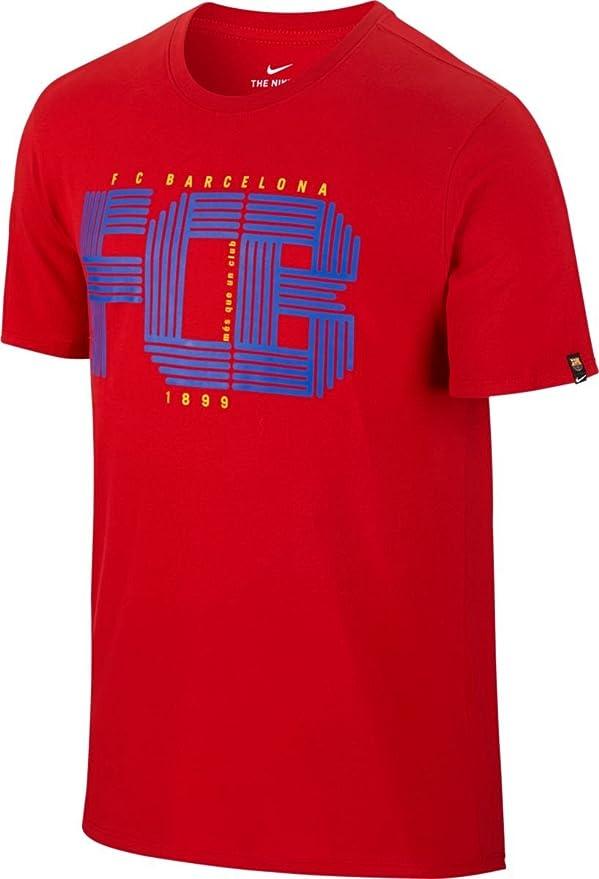 NIKE FCB M Nk tee Squad Camiseta de Manga Corta FC Barcelona, Hombre: Amazon.es: Ropa y accesorios