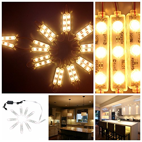 ,10ft 60leds Warm White Closet Kitchen Counter LED Light with Brightness Dimmer ()