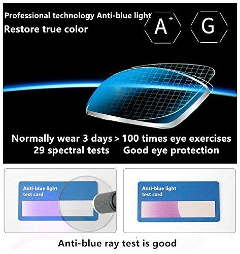 Blue Light Blocking [Rimless frame] Computer Glasses, Anti UV Eye Strain Clear Lens Reading Video Eyewear by AoHeng (Image #3)