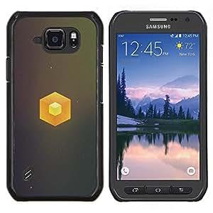 EJOOY---Cubierta de la caja de protección para la piel dura ** Samsung Galaxy S6Active Active G890A ** --Cubo simple