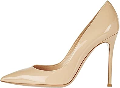 Sammitop Women's Pointed Toe Pumps 10cm