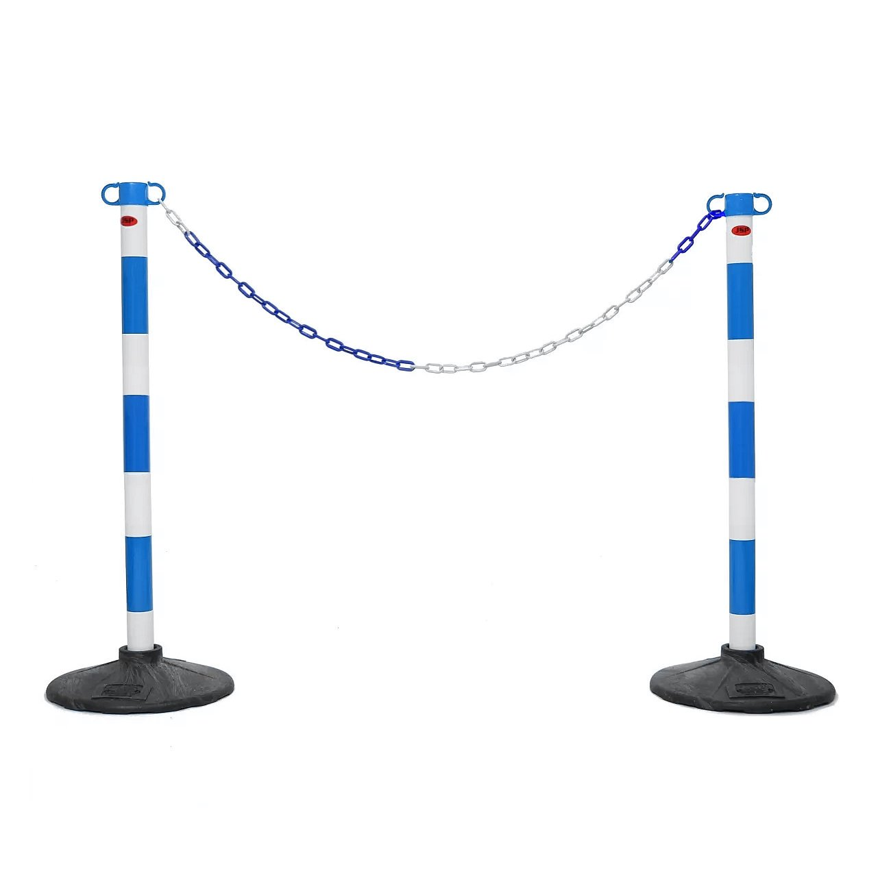 JSP Blue & White Post and Base Safety Security Queue Crowd Barrier System for Plastic Chain