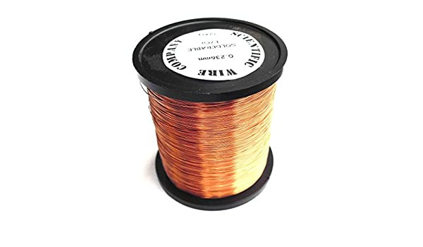 Esmaltado de cobre alambre de bobinado 0,28 mm Calibre 32 de 500 gramos Solderable: Amazon.es: Industria, empresas y ciencia