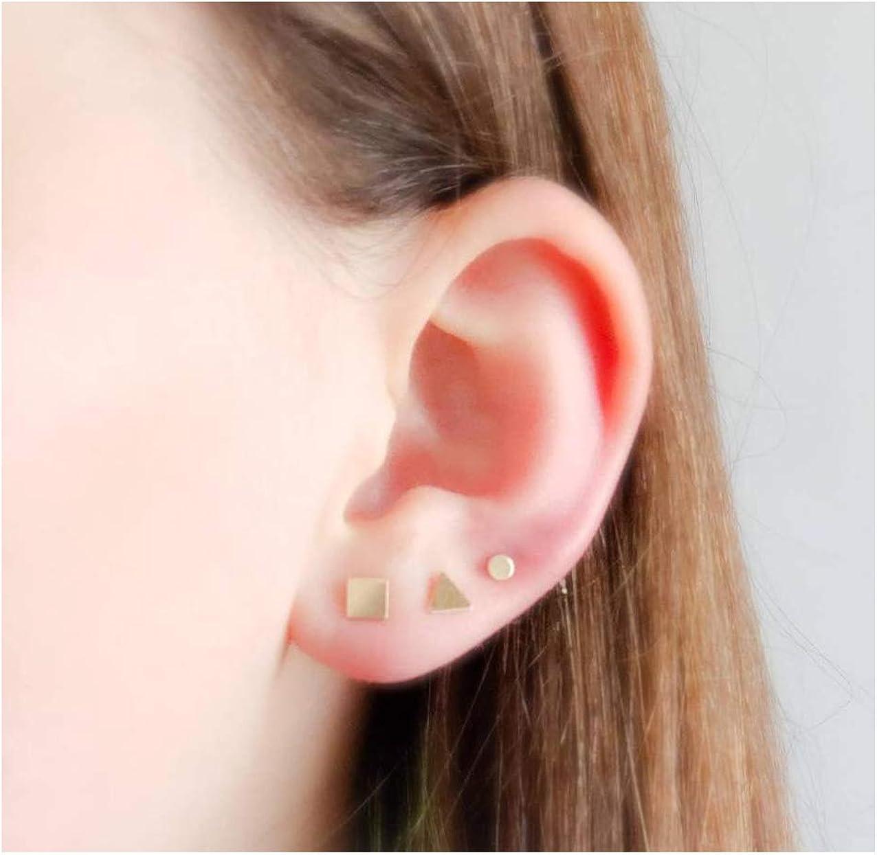 Tiny geometric minimal unisex earrings studs set!