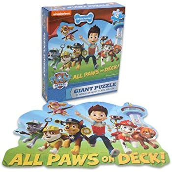 Amazon Com Paw Patrol Giant Floor Puzzle Set For Kids And