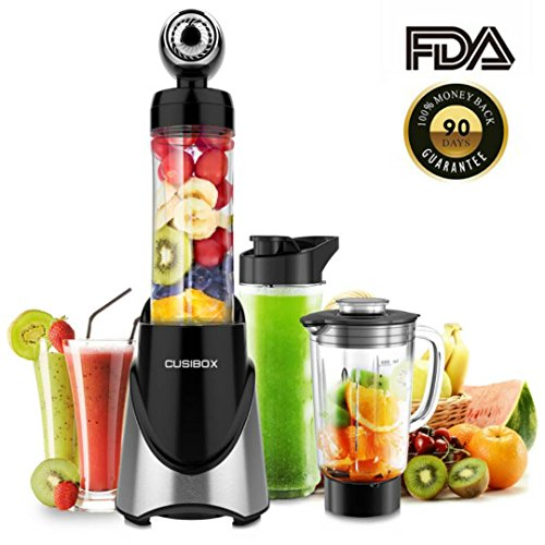 Vacuum Personal Blender Smoothie Blender Juice Blender 300W Portable Bottle Outdoors and Travelling Tritan Stainless Steel (Double Cup)