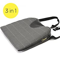 "Car Seat Cushion with Strap | 3"" THICK Drivers Wedge 
