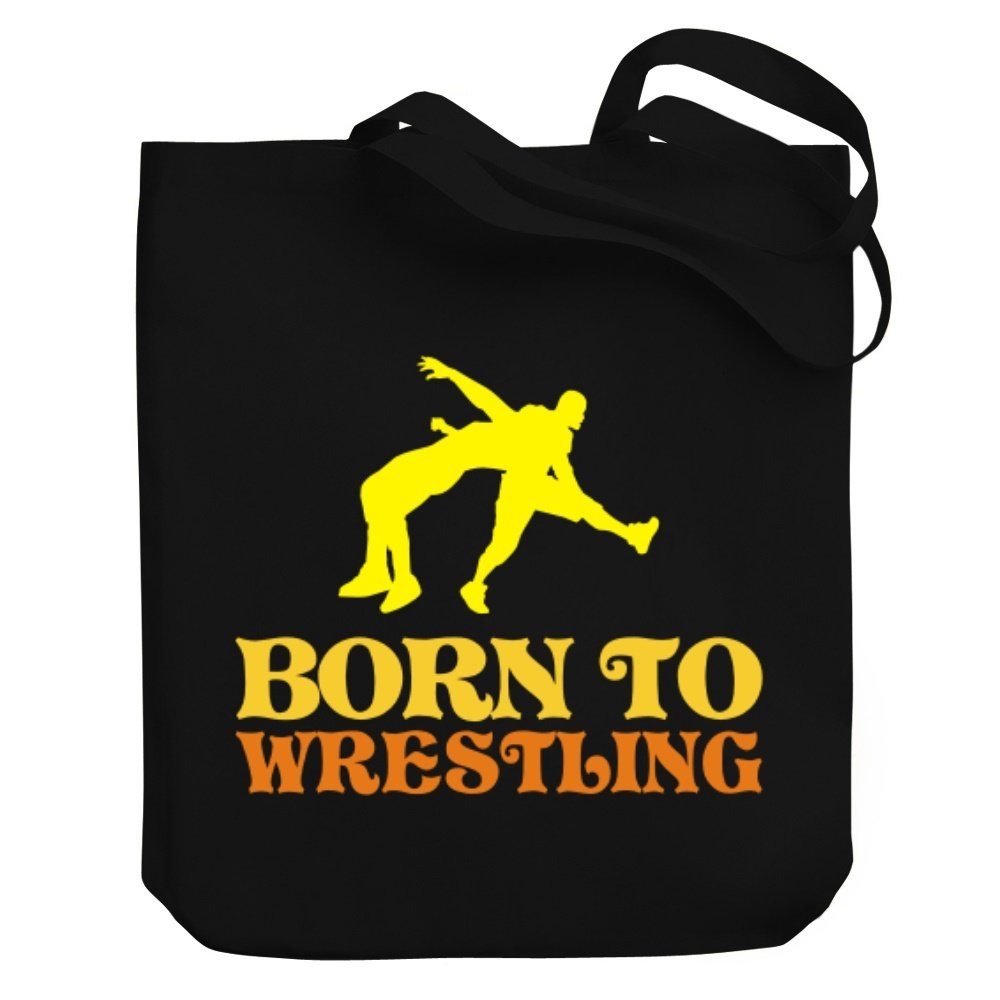 Teeburon BORN TO Wrestling Canvas Tote Bag by Teeburon