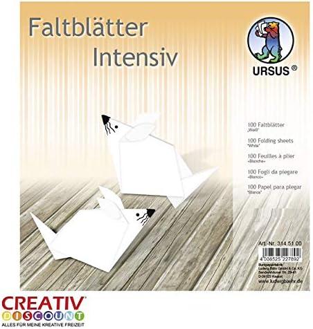 CREATIV DISCOUNT® NEU Faltblätter intensiv 100 Blatt, 15x15cm, weiß