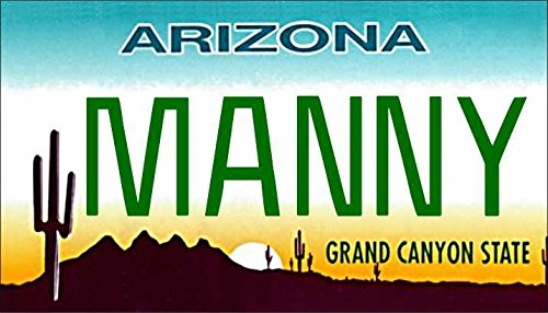 Personalized Arizona Cactus Refrigerator Magnet State License Plate - Personalized Magnet Cactus