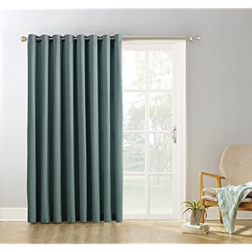 Sun Zero Easton Blackout Patio Door Curtain Panel 100 X 84 Mineral Green
