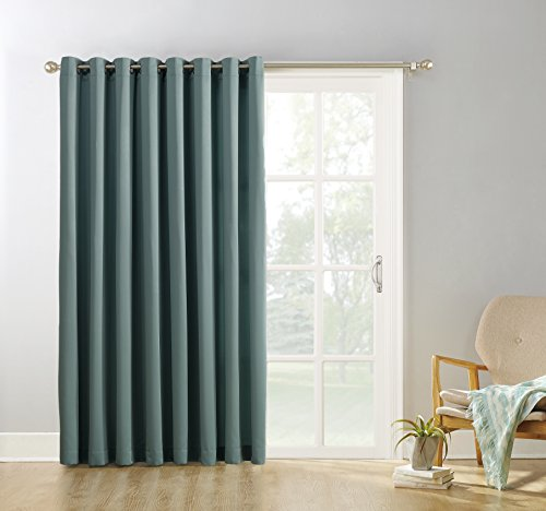 Cheap  Sun Zero Easton Extra-Wide Blackout Sliding Patio Door Curtain Panel with Pull..