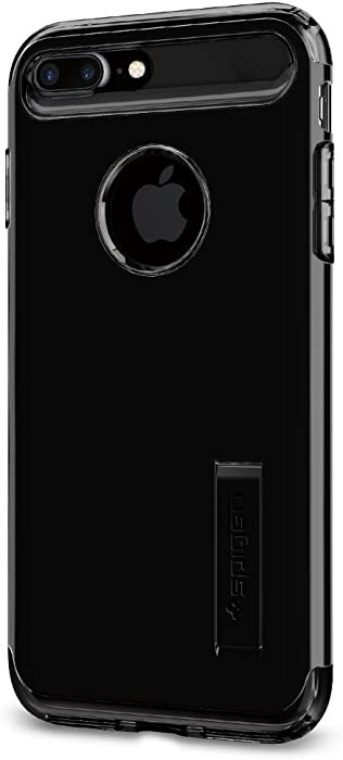 Spigen Slim Armor iPhone 7 Plus Case with Kickstand and Air Cushion Technology Hybrid Drop Protection for Apple iPhone 7 Plus (2016) - Jet Black