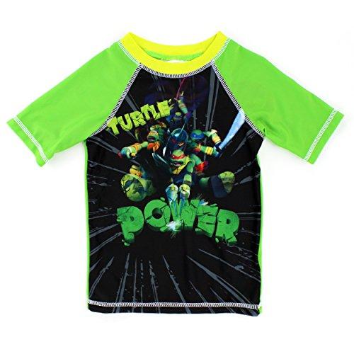[Teenage Mutant Ninja Turtles Boys Rashguard Swimwear (4, Power Green)] (Ninja Turtle Suits)