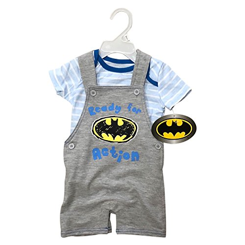 Batman Jersey 2 Pieces Jumper Newborn Set Or 4 Pieces Baby Clothing Set(0-3 m to 6-9 m) 100% Cotton (Batman Jumper Set, 0-3 Months)