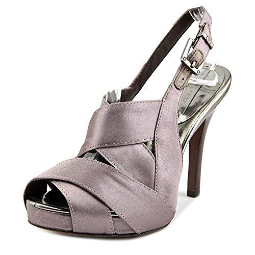 BCBG Max Azria Nalia Women US 10 Gray Peep Toe Slingback Heel