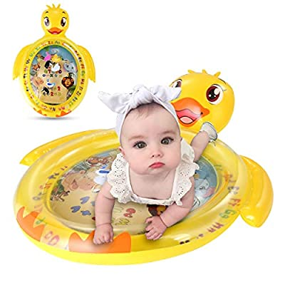 non Inflatable Tummy Time Water Mat, Baby Kids Play Patted Pad Toy Infant Activity Center for Babys Stimulation Growth: Toys & Games