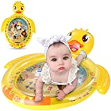 Luchild Inflatable Duck Water Mat for Baby Kids Play Patted Pad Infants & Toddlers Fun Tummy Time Play Activity Center Toy for Baby's Stimulation Growth