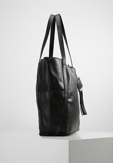 3cf4b93aa785 Anna Field Shopper Bag for Women - Large Shoulder Designer Handbag - black:  Amazon.co.uk: Shoes & Bags