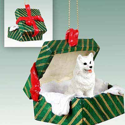 - Conversation Concepts American Eskimo Gift Box Green Ornament