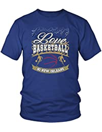 Love Basketball Go New Orleans Fan Gifts Gradient Vines Awesome Cool Men Tshirts