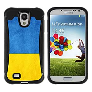 Be-Star único patrón Impacto Shock - Absorción y Anti-Arañazos Funda Carcasa Case Bumper Para SAMSUNG Galaxy S4 IV / i9500 / i9515 / i9505G / SGH-i337 ( Ukraine Flag )