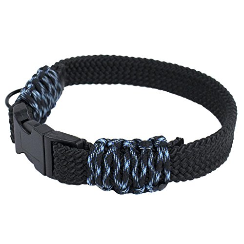 Flat Braid Rope DIY Paracord Dog Collar Kits – Choose from Red, Black, Neon Pink, and Tan/Camo – DIY Dog Collars Make Your Furry Friend Stand Out (Black & ()