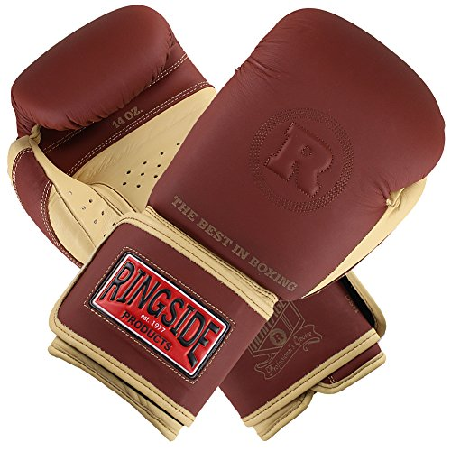Ringside Heritage Lace Sparring Gloves, Brown, 16-Ounce ()