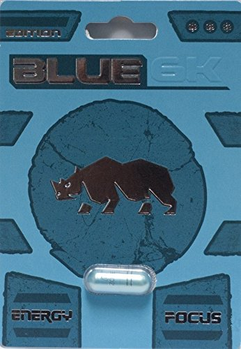 NEW PREMIUM BLUE 6K All Natural Male Enhancement Sex Libido Stamina Energy Booster (Multi Packs) (3)