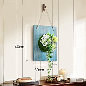 Pastoral fresh flower pots creative wall decorations mounted simulation plants-L