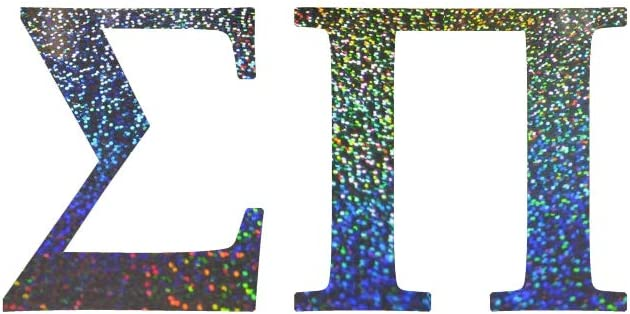 Officially Licensed Sigma Pi 6 x 3 Window Decal Rainbow Glitter Mallory Holle Inc