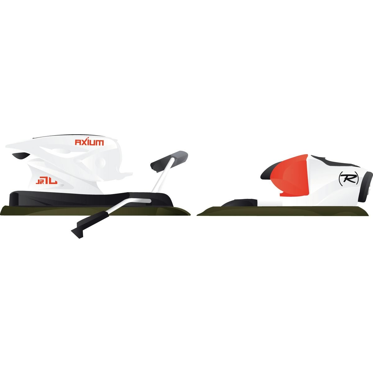 Rossignol Axium JR Pro 70 Ski Bindings Junior White/Red 73