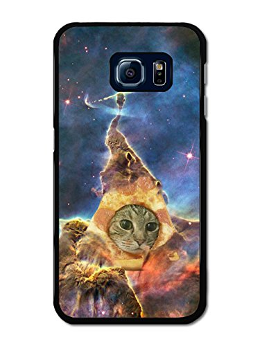 Funny Cute Cat in Pizza Space Hipster Cool Design coque pour Samsung Galaxy S6 Edge