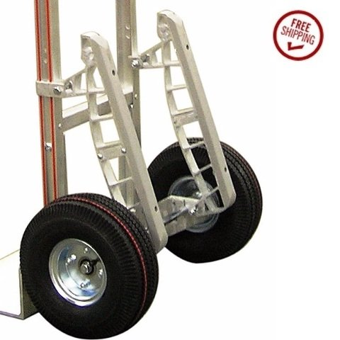 B&P Heavy Duty 18'' Stair Climbers for Aluminum Hand Trucks with Nylon Glides E1L by Modular Parts (Image #3)