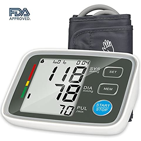 Urion Upper Arm Blood Pressure Monitor with Automatic Digital Blood Pressure Cuff 8.7 To 12.6 Inch 2 User - Automatic Arm
