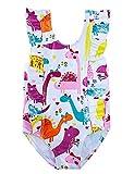 RAISEVERN Baby Girls Swimsuit Ruffles Dinosaur