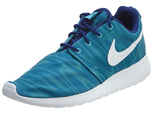 Nike Roshe Run Print 599432-005 - Zapatillas para mujer, color gris, talla 38.5 Gamma Blue/White-Deep Royal Blue
