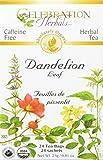 CELEBRATION HERBALS Dandelion Leaf Tea Organic 24 Bag, 0.02 Pound