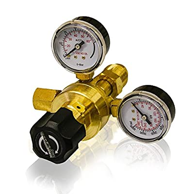 LOTOS Argon CO2 Flow Meter Welding Welder Regulator Gauge Gas Welder Gas Regulator (for LOTOS MIG140 MIG175 Tig200 TIG200DC Welder)