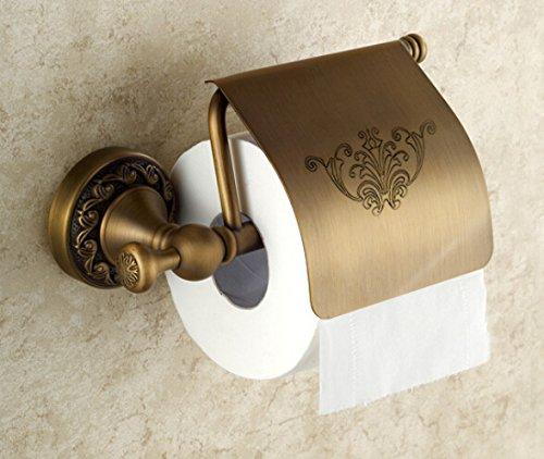 antique brass toilet paper holder roll tissue bracket wall mounted 702411871377 ebay. Black Bedroom Furniture Sets. Home Design Ideas