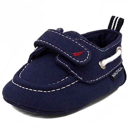 Nautica Boys' Tiny River Crib Shoe, Navy, 1 M US Infant (Flats River)