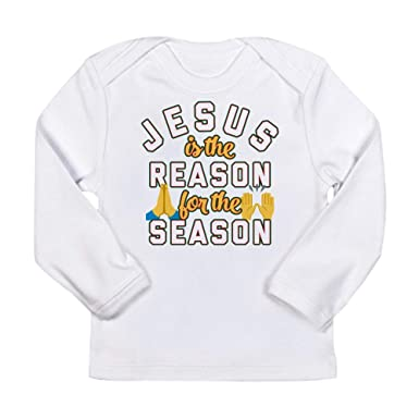 Amazon.com  CafePress Emoji Jesus is The Reas Long Sleeve Infant T-Shirt   Clothing 7acc5bb95