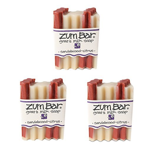 Indigo Wild: Zum Bar Goat's Milk Soap Bar, Sandalwood Citrus 3 oz (3 pack)