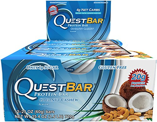 Quest Nutrition Protein Bars, Coconut Cashew, 12-Bars