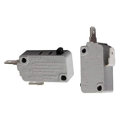 Microondas KW3A Interruptor de puerta de repuesto para DR52 16A ...