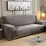 YUNJIE Stretch Couch Covers, Plush Sofa Cover, Thicken Couch Covers, Sofa slipcovers 1-Piece, All Season sectional Sofa Cover, Furniture Protector-X