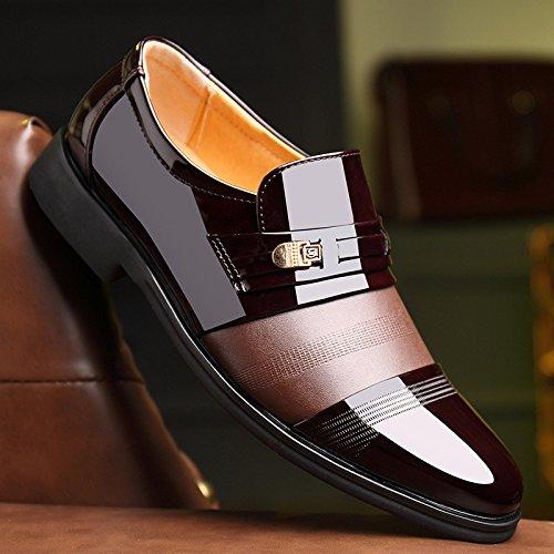 Vestido De Hombre Hombres Boda Punta Zapatos Genuino Cuero Pies Británica Negocios Brown Los TqZxnESw